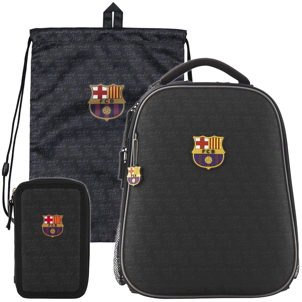 fa29f5aa1861 Рюкзак в комплекте 3 в 1 FC Barcelona KITE BC19-531M+600S+623 Купить ...