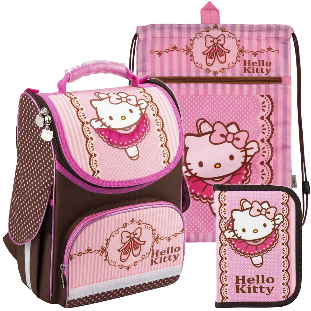 c6ada81a9e78 Рюкзак в комплекте 3 в 1 Hello kitty KITE HK18-501S-1+601M-1+621-1 ...