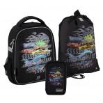 Рюкзак в комплекте 3 в 1 Hot Wheels KITE HW20-555S+600M-1+623