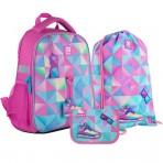 Рюкзак в комплекте 3 в 1 Cool Girl KITE K21-555S-3+600M-9+622-7