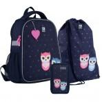 Рюкзак в комплекте 3 в 1 Lovely owls KITE K21-555S-4+600M-11+623-1
