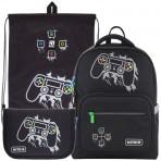 Рюкзак в комплекте 3 в 1 Gamer KITE K21-770M-1+600M-6+622-4