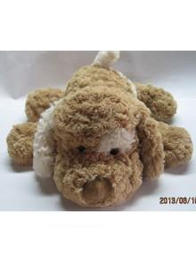 Мягкая игрушка Grand СОБАКА (коричневая,белое ухо,32см)