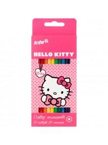 Карандаши цветные двухсторонние, 12шт./24цвета Hello Kitty KITE HK17-054