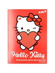 Картон цветной двусторонний Hello Kitty KITE HK17-255