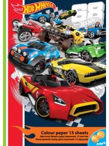 Бумага цветная двусторонняя Hot Wheels KITE HW16-250