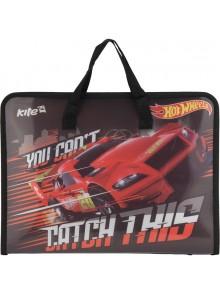 Портфель А4 на молнии Hot Wheels KITE HW17-202