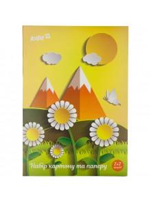 Набор цветных картона и бумаги (7+7) KITE K17-1256-2