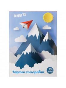 Картон А-5 цветной односторонний KITE K17-1257-1
