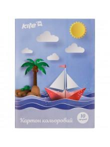 Картон А-5 цветной односторонний KITE K17-1257-2