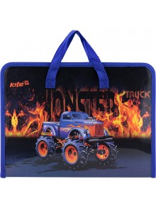 Портфель А4 на молнии Monster Truck KITE K17-202-2
