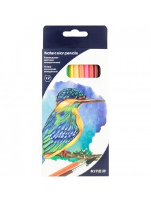 Карандаши цветные акварельные, 12 цветов KITE K18-1049