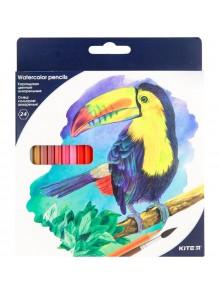 Карандаши цветные акварельные, 24 цвета KITE K18-1050