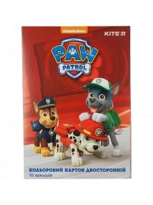 Картон цветной двусторонний Paw Patrol KITE PAW18-255