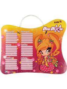 Доска с расписанием уроков + маркер Pop Pixie KITE PP14-145K