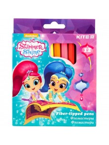 Фломастеры 12 цветов Shimmer&Shine KITE SH18-047