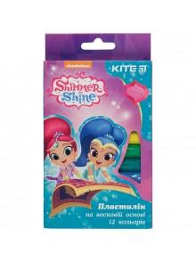 Пластилин мягкий, 12 цветов Shimmer&Shine KITE SH18-086