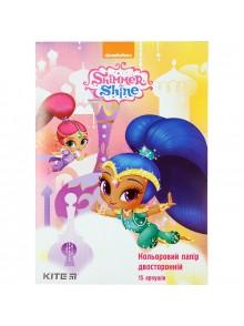 Бумага цветная двусторонняя Shimmer&Shine KITE SH18-250