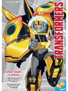 Бумага цветная двусторонняя Transformers KITE TF16-250